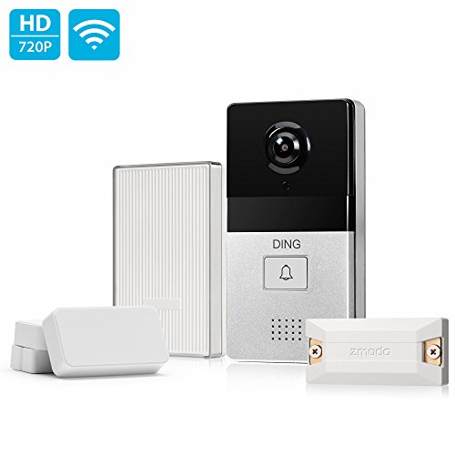 DING WiFi Enabled Video Doorbell Package with Smart Home Hub and WiFi Extender, 2 Pack Door/Window Sensors – Cloud Service Available
