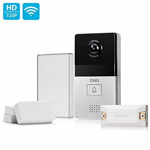 DING WiFi Video Doorbell & 6-Month Free Cloud Service - Smart Home Hub and WiFi Extender and 2 Pack Door/Window Sensors - All Inclusive Bundle