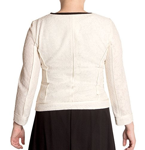 Anne Klein Women's Collarless Lace Jacket, (2)