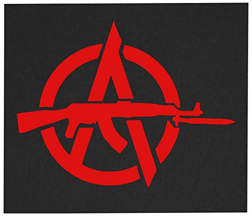 Anarchy Back Patch - Anti Authority Establishment Corporation Social Political Activism Anarchism Government Class War Anarcho Front ALF Punk Earth Human Rights Welfare Animal Liberation ALF Testing