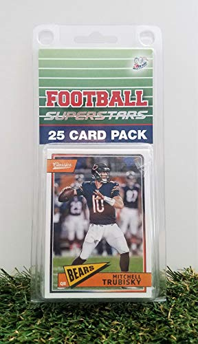 Chicago Bears- (25) Card Pack NFL Football Different Bear Superstars Starter Kit! Comes in Souvenir Case! Great Mix of Modern & Vintage Players for the Super Bears fan! By 3bros