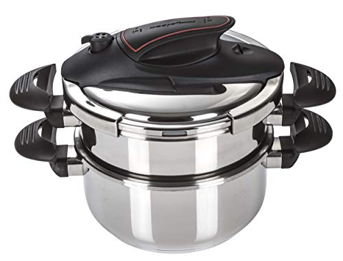- Prisma 4+6 Qts. Stainless Steel Pressure Cooker (Stainless Steel)