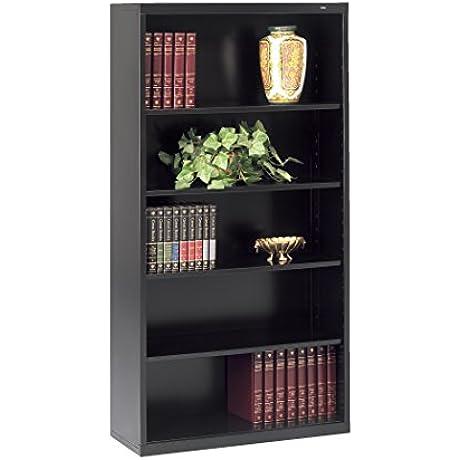 Tennsco Corporation B 66BK Welded Bookcase 34 1 2 Width X 66 Height X 13 Length 5 Shelves