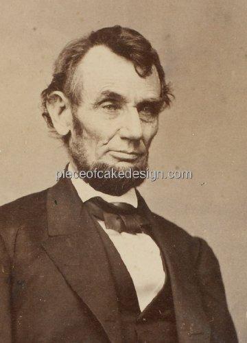 (1/4 Sheet ~ Abraham Lincoln Portrait Birthday ~ Edible Cake/Cupcake Topper!!!)