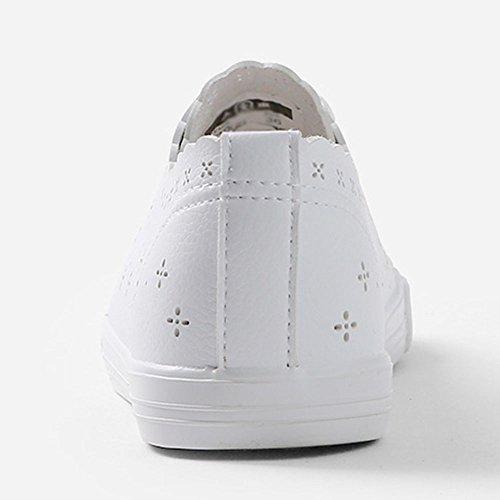 Versión Zapatos Transpirable Coreana Slip Ojo CN38 Agujero 5 mujer Feifei Resistant UK5 Tamaño Inferior Bottom Blanco EU38 Shoes de rxzRq0gwr