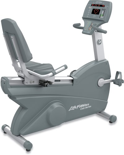 Life Fitness Club Series Recumbent LifeCycle Exercise Bike Life Fitness
