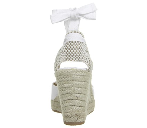 really for sale cheap best place Office Marmalade Espadrille Wedges White Canvas mxGyaAv8xr