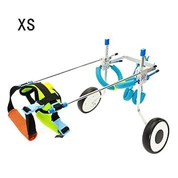 Silla de ruedas ajustable para perro pequeño (XS), peso de 2,26 a 9 kg, rehabilitación de patas traseras, peso ligero: Amazon.es: Productos para mascotas