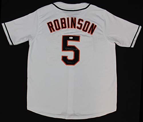 Brooks Robinson Autographed White Baltimore Orioles Jersey - Hand Signed By Brooks Robinson and Certified Authentic by JSA - Includes Certificate of Authenticity - Inscribed HOF 83