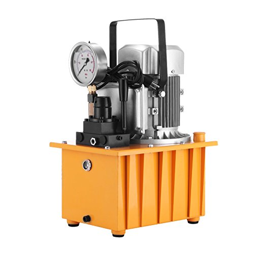 Hydraulic Pump Valve - Happybuy Hydraulic Pump Electric Double Acting Manual Valve Hydraulic Pump 10000 PSI 0.75KW Driven Hydraulic Pump for Home and Commercial Using (Double Acting Hydraulic Pump)