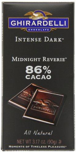 Ghirardelli Chocolate Bar intense sombre, noir minuit Reverie, 3,17 oz, 6 comte