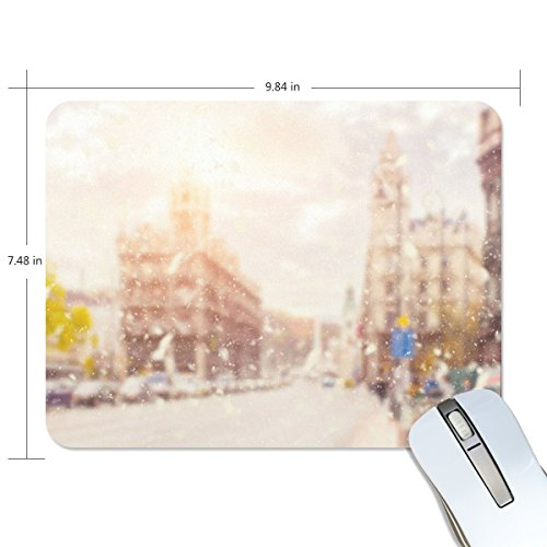 Corner Hut - Personalized Mouse Pad Large Rectangle Gaming Mouse Pad Style Rubber Mousepad with Snow In The Corner in 9.84