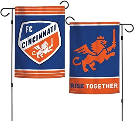 brand new 508af ffe6c Amazon.com : FC Cincinnati Garden Flag 2 Sided Rise Up MLS ...