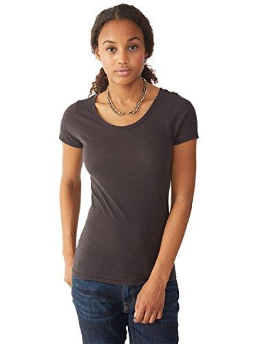 Alternative - Ladies' 3.5 oz. Organic Scoop Neck X-Large Earth Black