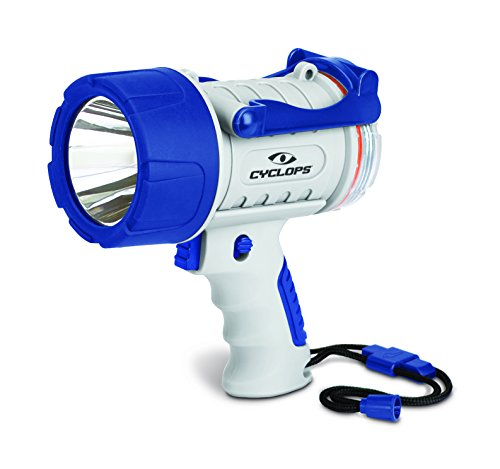 Cyclops 300 lm Rechargeable Waterproof Marine Style Spotlight, White/Blue