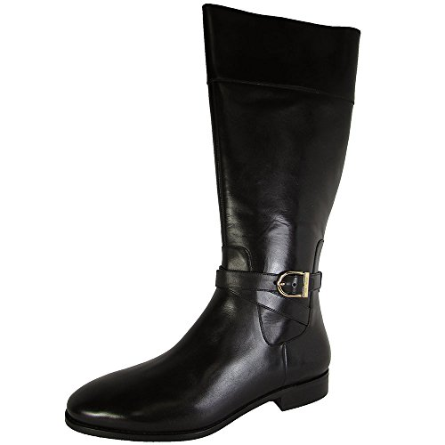 Cole Haan Womens Catskills Boot II Tall Riding Shoes, Black Leather, US 9