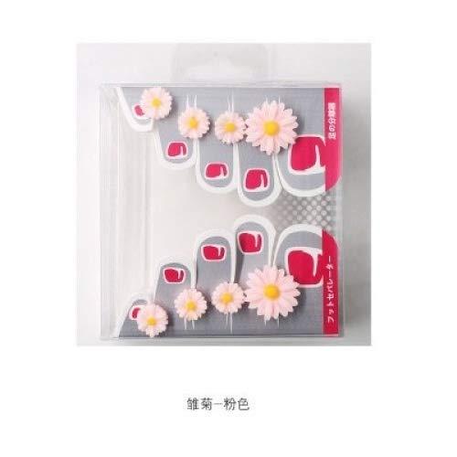 Yiwa Silicone Toe Separators Toes Orthotics Toe Spacers 8 Pcs/Set Fashion Daisy Flower Manicure Pedicure Nail Art Tools