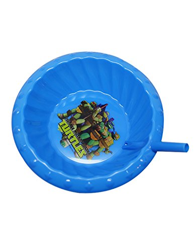 Zak Designs Nickelodeon Childrens Sipper Cereal Bowl With Straw, Ninja Turtles, 1-Pack (2 Pieces)