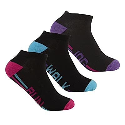 Red Tag Active Ladies Cotton Rich Sports Ankle Socks - 9 Pairs