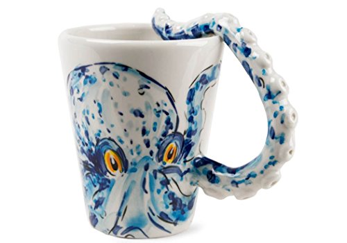 Octopus Gift, Coffee Mug Handmade by Blue Witch