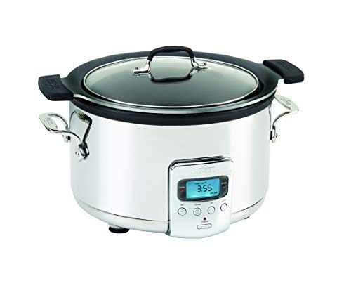 All-Clad SD712D51 4 Qt. Slow Cooker with Aluminum Insert, Silver