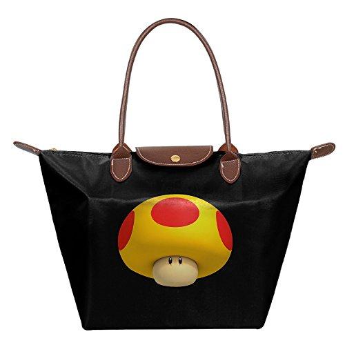[Bobby Super Mario Small Nylon Mini Shopping Beach Handbag Shoulder Tote Black] (Chess Player Costume)