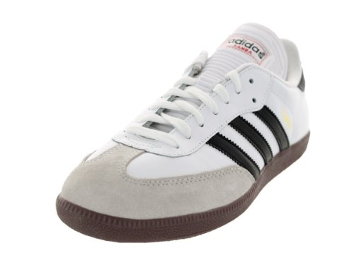 adidas Men's Samba Classic Soccer Shoe,Run White/Black/Run White,8.5 M US