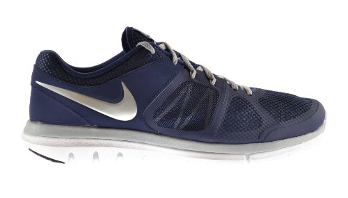 bd26ae7c1dd2f NIKE Flex 2014 Run men s Shoes Mid Navy Metallic Silver-Wolf Grey-White  642791-401 - Buy Online in KSA. Shoes products in Saudi Arabia. See Prices