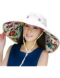 ae6672023e4 Packable Extra Large Brim Floppy Sun Hat Reversible UPF 50+ Beach Sun  Bucket Hat