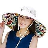 iHomey Packable Wide Brim Floppy Sun Hat Reversible UPF 50+ Beach Sun Bucket Hat