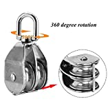 GBGS 4 Pack M50 Double Pulley Snatch Block Load 880