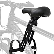 Cingfanlu Kids Bike Seat,Light Weight Foldable Front Mounted Bicycle Frame, Portable Outdoor Parent-Child Fram