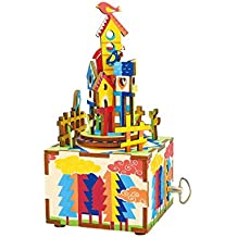Hands Craft AM307 DIY 3D Wooden Puzzle Music Box: Castle In The Sky