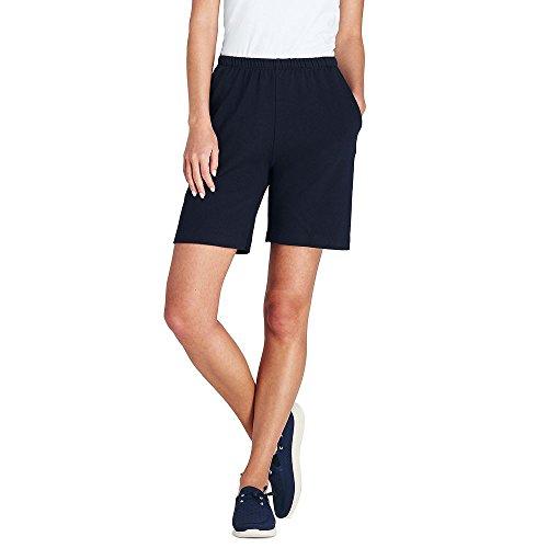 Lands' End Women's Petite Sport Knit Shorts, L, Classic Navy ()