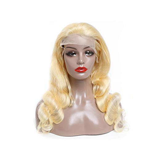 Lotus leaf fragrance 613 Honey Blonde Preplucked Brazilian Wig Remy Body Wave Wig Glueless Lace Front Human Wigs for Black Women,#613,24inches,150%