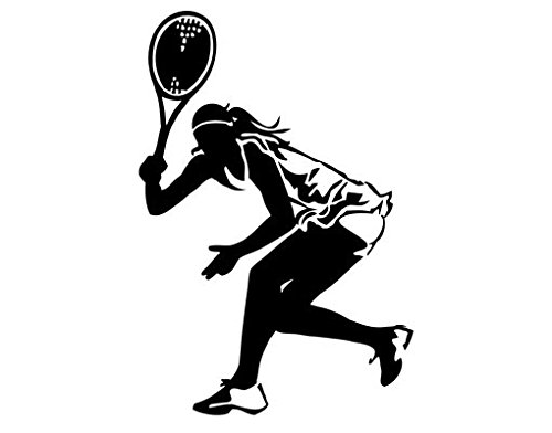 Wall Decal Tennis Player II, Color: Aubergine, 58.3x39.4 by PPS. Imaging GmbH (Image #3)