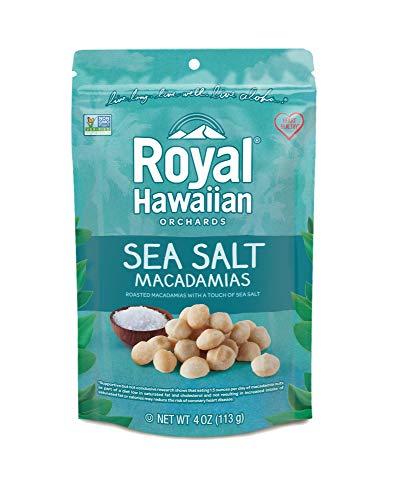 Royal Hawaiian Orchards Macadamias, Sea Salt, 4 Ounce (Pack of ()