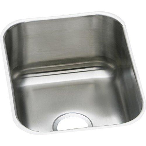 (Elkay DXUH1318 18 Gauge Stainless Steel Single Bowl Undermount Bar/Prep Sink, 16 x 20.5 x 8