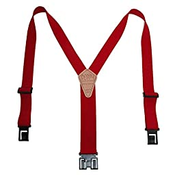 1 1/2 In. Original Perry Suspenders, Regular, Red