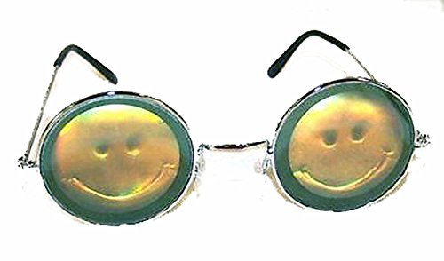 Smile Face Hologram 3d Novelty Adult Unisex - Hologram Sunglasses