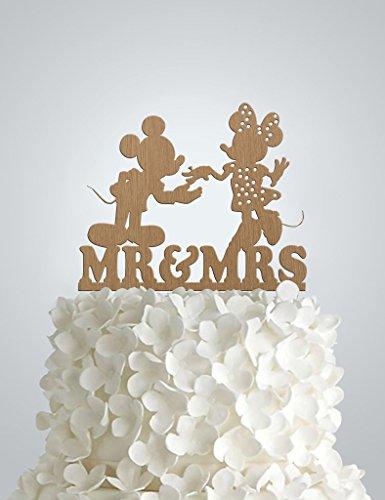 Disney Wedding Cake Toppers (Wood Wedding cake Topper - Disney)