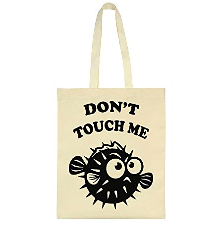 Don't Black Bag Fish Puffer Angry Tote Touch Me PwCqr8P