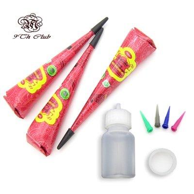 Buy Worldbay 3 Golecha Red Henna Tattoo Paste Cones Mehndi Nozzle