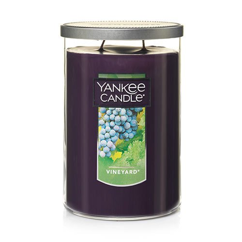 2 Wick Glass Candle - Yankee Candle Large 2-Wick Tumbler Candle, Vineyard