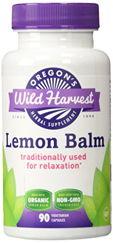 Oregon's Wild Harvest Lemon Balm Organic Herbal Supplement, 90 Count (Herbals Lemon Balm)