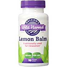 Oregon's Wild Harvest Lemon Balm Organic Herbal Supplement, 90 Count