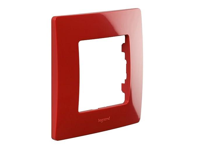 legrand 397876 Marco simple para 1 interruptor Rojo: Amazon.es: Bricolaje y herramientas