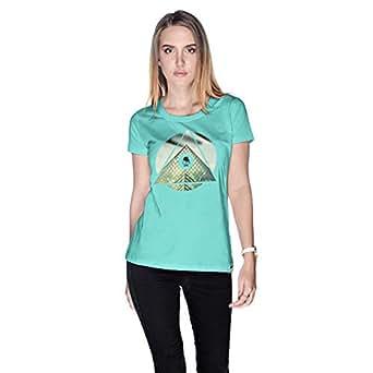 Creo Paris Louvre T-Shirt For Women - L, Green