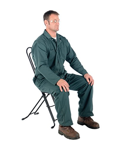 Vestil CPRO-800LP Ergonomic Worker Seat/Chair, 13-1/2'' Width, 10'' Depth, 300 lb. Capacity, 18'' - 33'' Height Range by Vestil (Image #5)