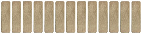 Stair Tread Treads Indoor 7 inch x 24 inch Machine Washable Skid Slip Resistant Carpet Stair Tread Treads Comfy Collection (Set of 13, Dark Cream) by RugStylesOnline (Image #8)